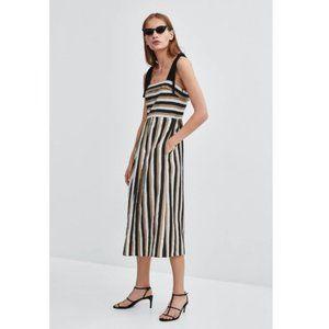 Zara Linen Blend Summer Dress